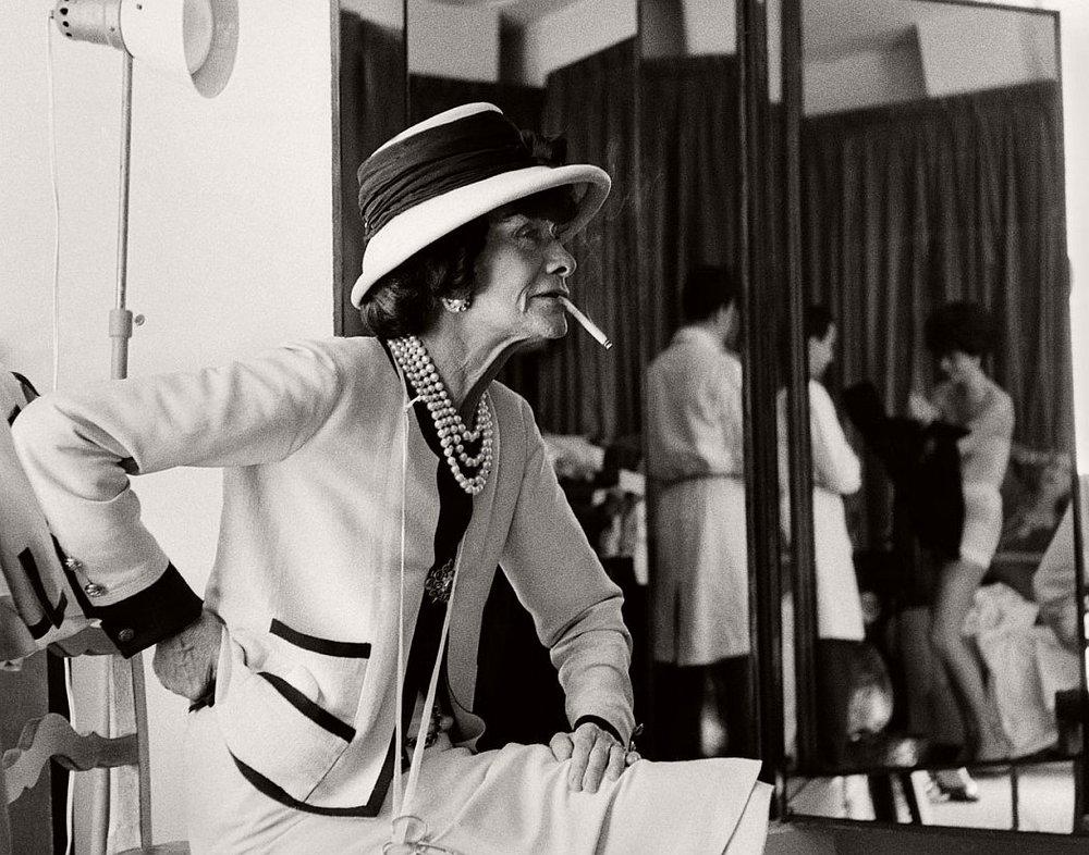 Gabrielle Coco Chanel, 1962. By Douglas Kirkland