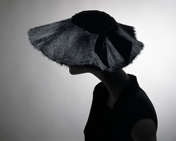 Wool silk hat, by House of Dior, 1954