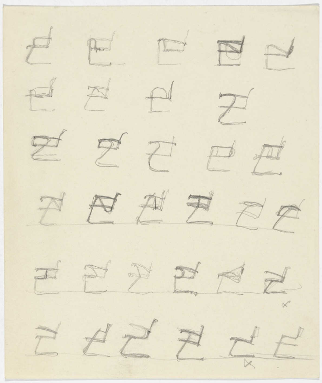 Elevation sketches, by Ludwig Mies van der Rohe, 1931-1932