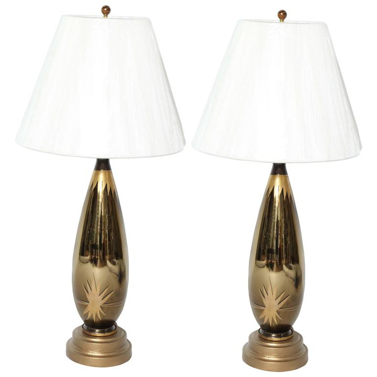 art deco starburst mercury glass table lamps - Mercury Glass Table Lamp