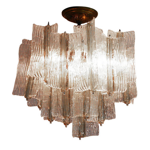 Exceptional vintage two tone venini chandelier by toni zuccheri exceptional vintage two tone venini chandelier by toni zuccheri aloadofball Image collections