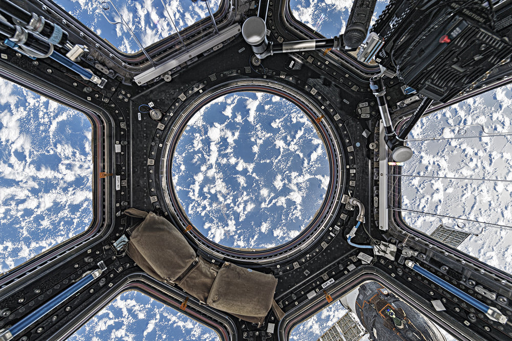 Roland Miller  Cupola with Clouds and Ocean, International Space Station, 2017