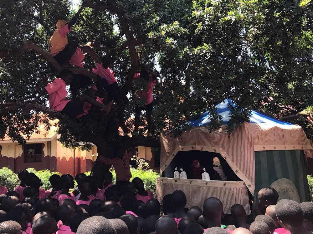 A Lanky Yankee Punch & Judy Show  performed at a school in Jinja, Uganda in August 2017!