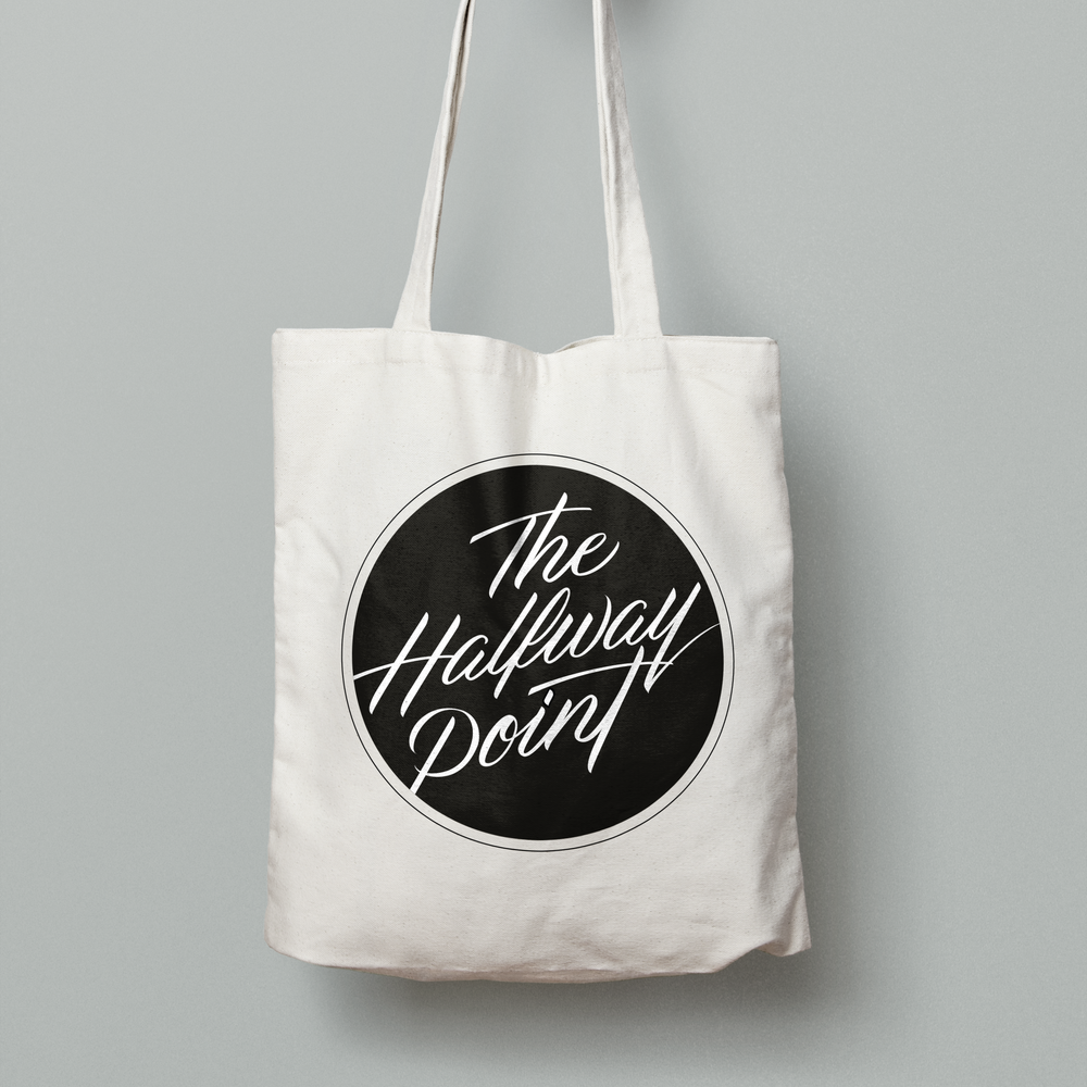 The Halfway Point Band Logo Design Branding Tote Bag