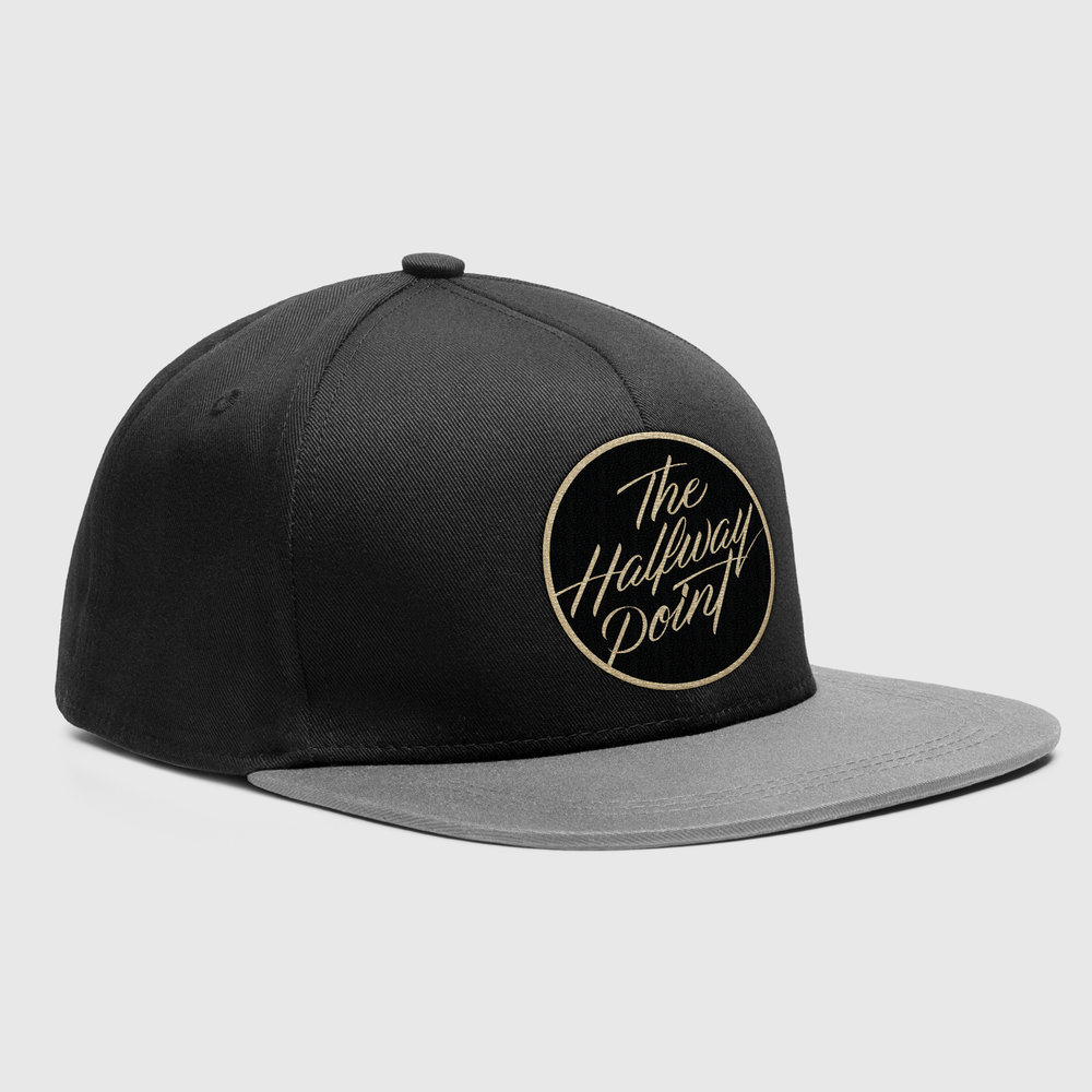The Halfway Point Band Logo Design Branding Snapback Merah Design
