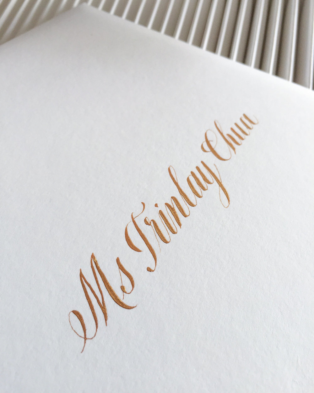 Envelope Addressing Calligraphy Singapore