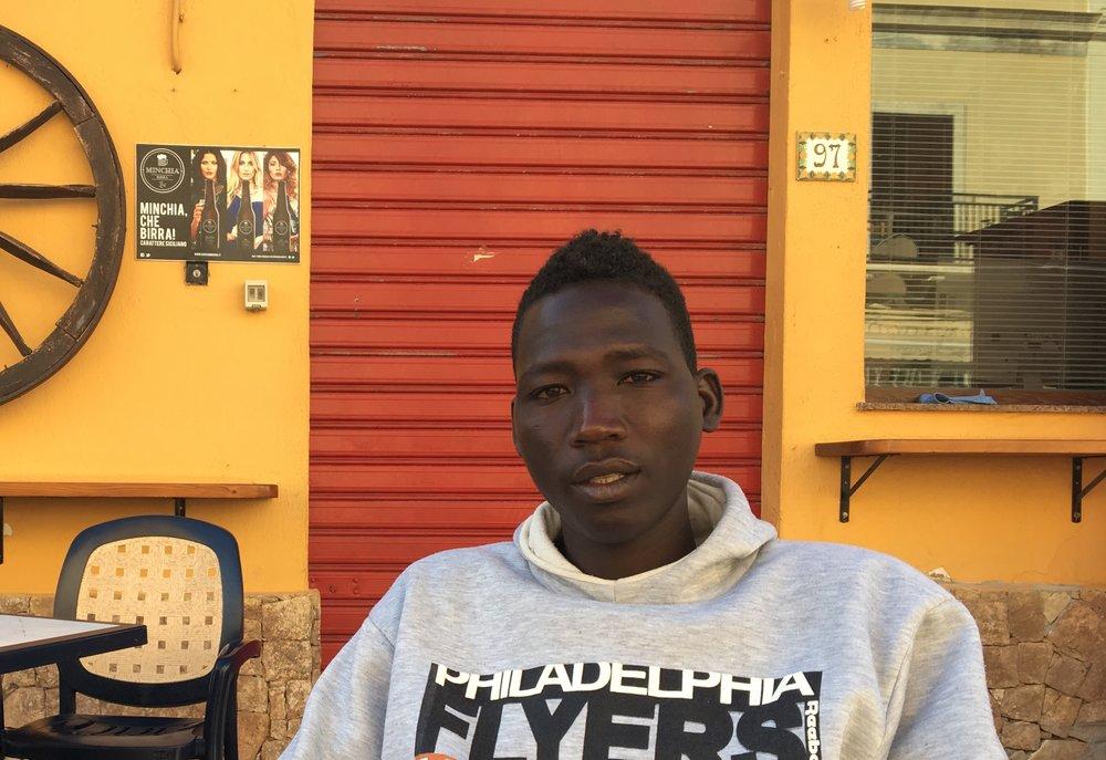 Amir en Lampedusa, Italia. Abril 2017. Copyright ©Pamela Kerpius