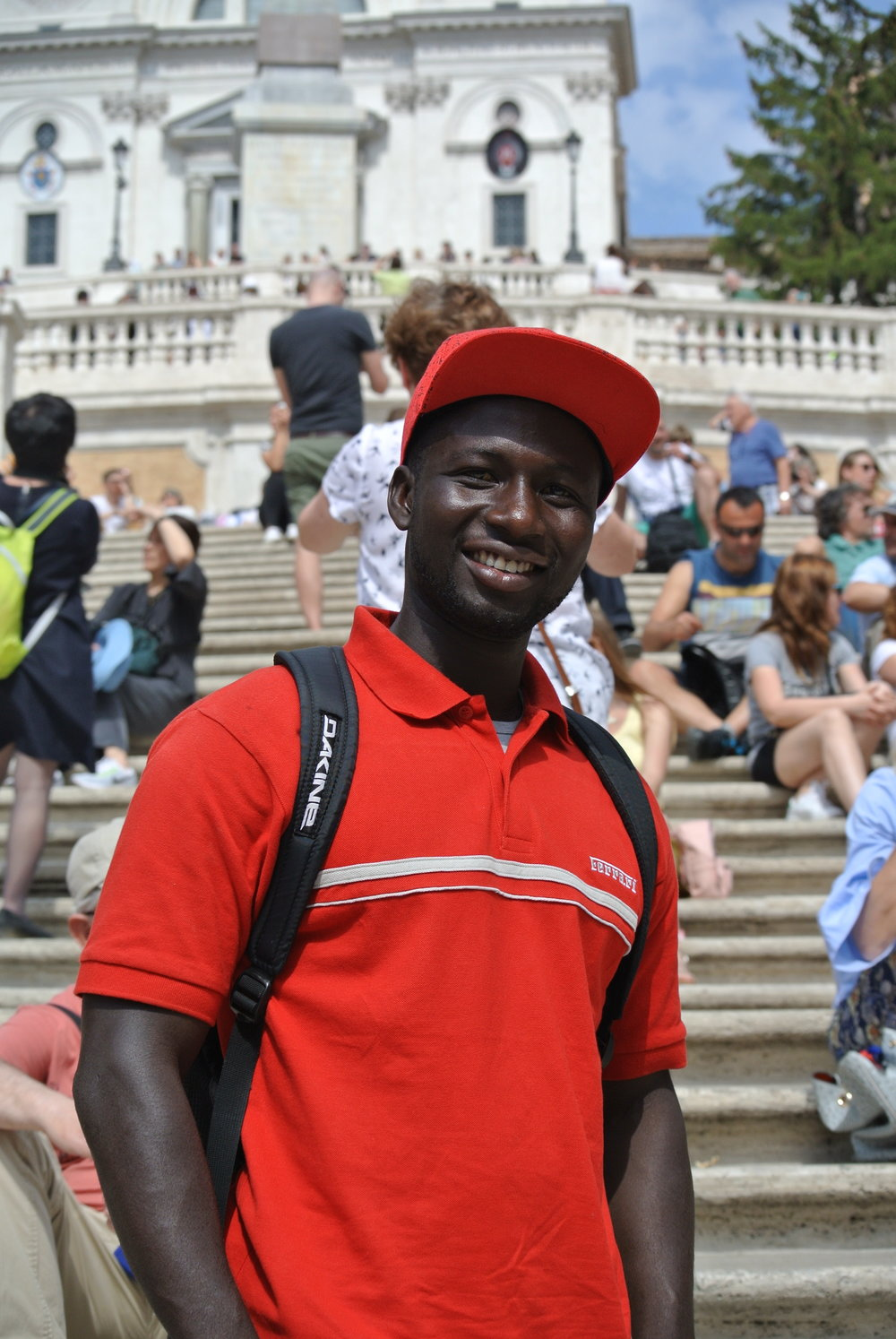 At the Spanish Steps in central Rome, May 2017.