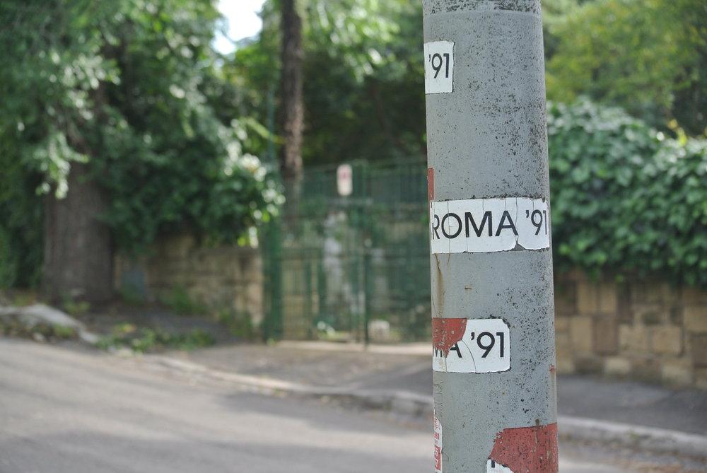 C'era Una Volta: alien inscriptions from a long ago age. Rome, EUR; May 2018. ©Pamela Kerpius