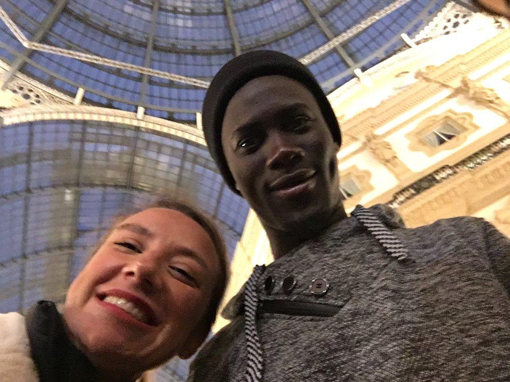 Selfie with the author, in Milan, November 2017. Milan, Italy. © Pamela Kerpius