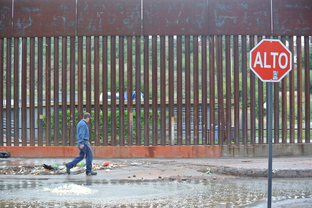 Beside the US-Mexico border wall. Nogales, Mexico; July 2017. © Pamela Kerpius
