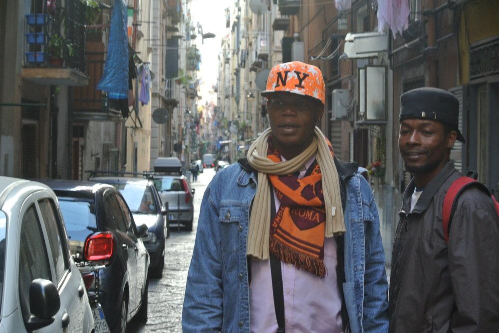 Yoro and Ousman in Naples, Italy. November 2017. © Pamela Kerpius