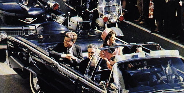 The limousine carrying President and Mrs. Kennedy, along with Governor and Mrs. Connally.