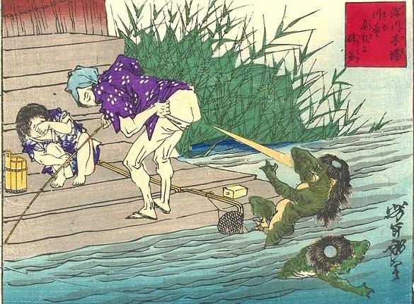 """""""Defense Against Kappa"""" by Yoshitoshi"""