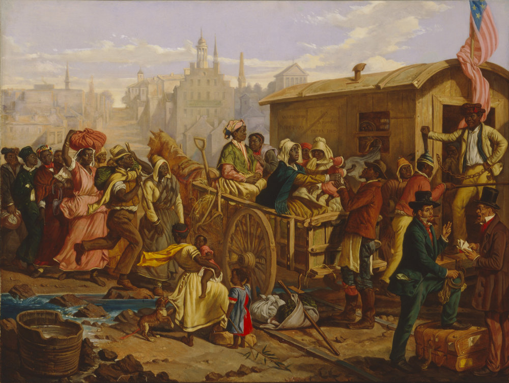 After the Sale: Slaves Going South from Richmond (1854),  Eyre Crowe