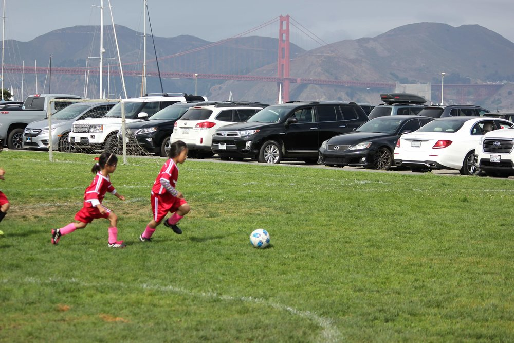 The 2023 Starr King Ladyhawks, playing in the most beautiful location in the city