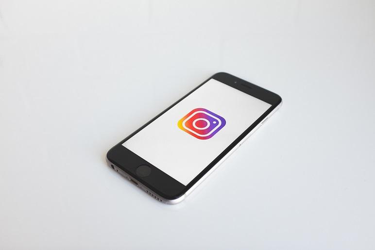 social media instragram on phone picture.jpg