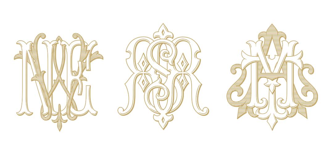 custom 3 letter monogram