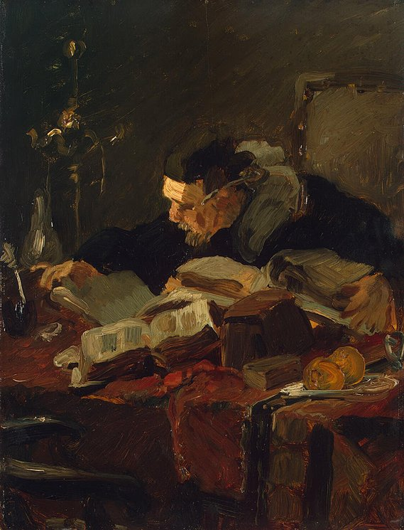 Scholar at the Table - Emile Charles Wauters