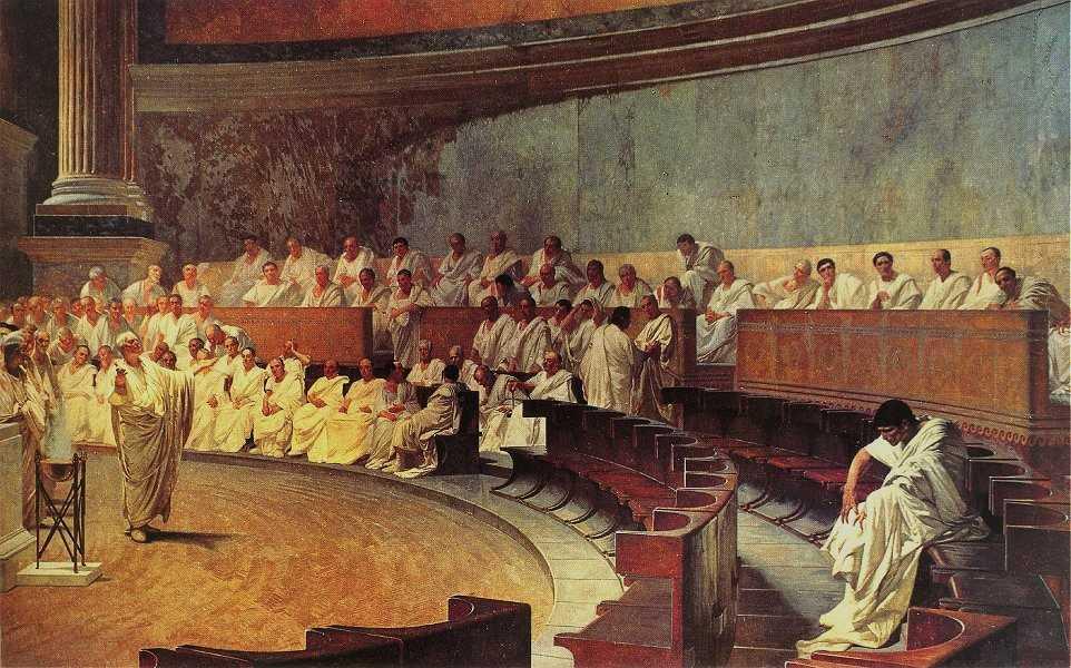 Cicero Denounces Catiline - Maccari