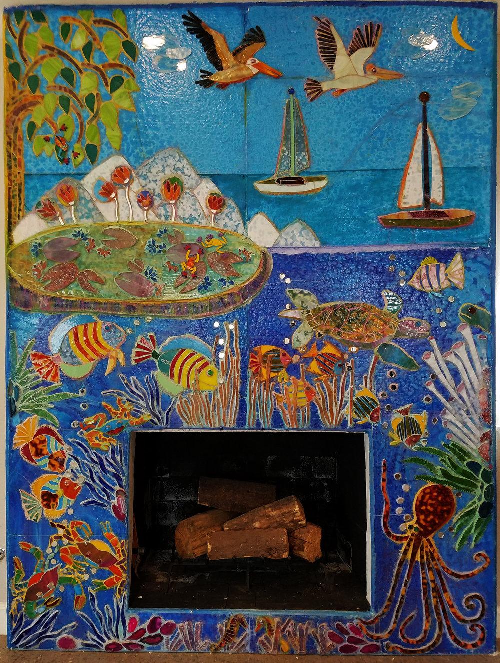 Fireplace Fish Mosaic