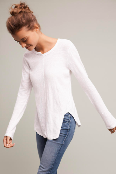 Seamed Scoop Neck - Regular Price $58.00, Sale $14.96