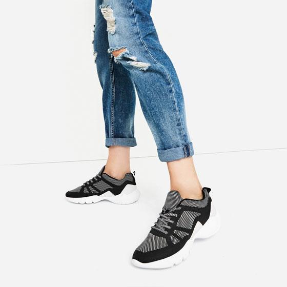 Women's Contrast Sneakers: Regular Price $49.90, Sale $7.99