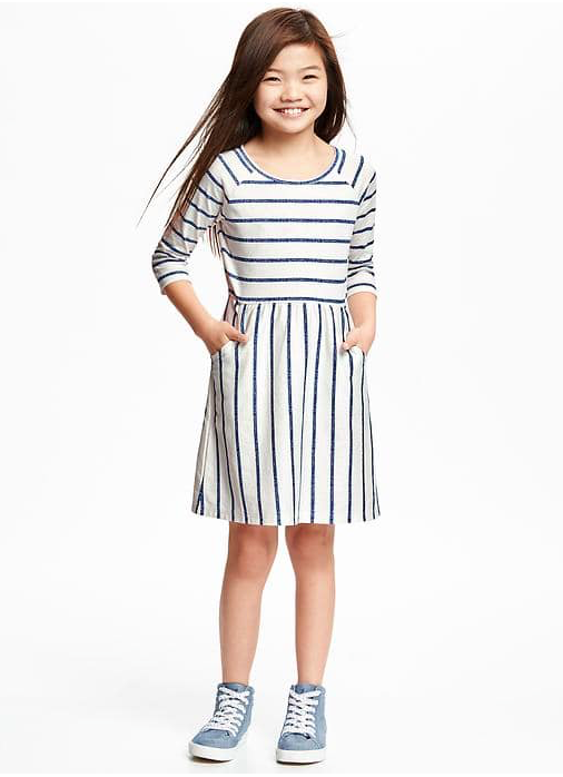 Striped Jersey Fit & Flare  Sale Price $7.95, Regular $19.95