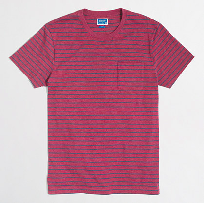 Striped Pocket T-Shirt - Sale $12.99, Regular $29.50
