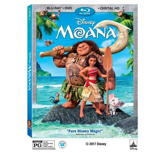 Moana Blu-Ray/DVD/Digital Copy: Sale $19, Regular $22.99