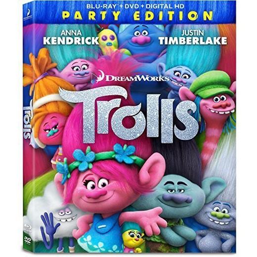 Trolls Blu-Ray/DVD/Digital Copy: Sale $13, Regular $19.99