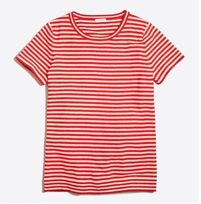 Short-sleeve Striped Sweater: Sale $14.99