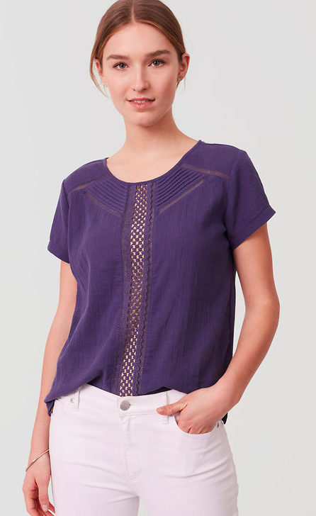 Eyelet Trim Tee - Sale $12.99, Regular $39.50