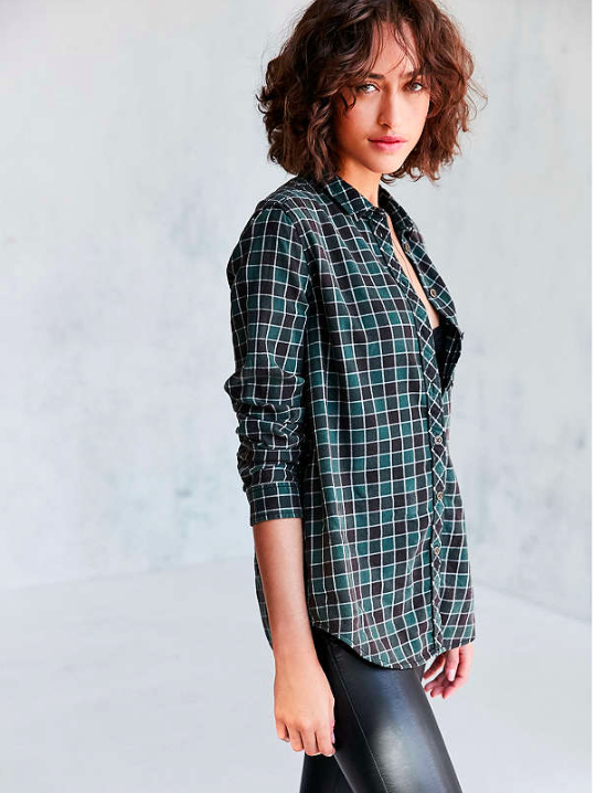 BDG Polly Flannel Button-Down - Sale $7.99, Regular $49.99