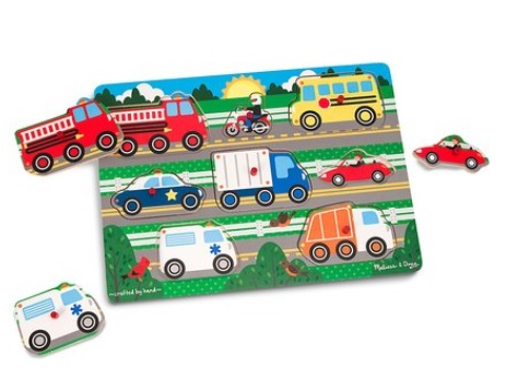 Vehicles Peg Puzzle: Sale $7.79, Regular $11.99