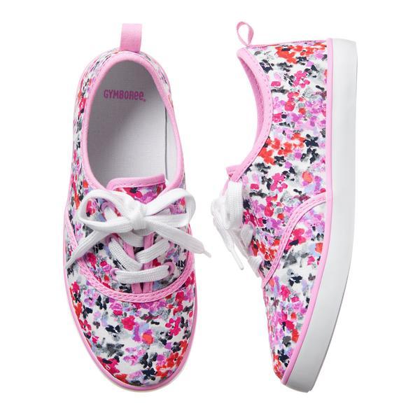 Girls Floral Sneakers: Sale $9.99, Regular $32.95