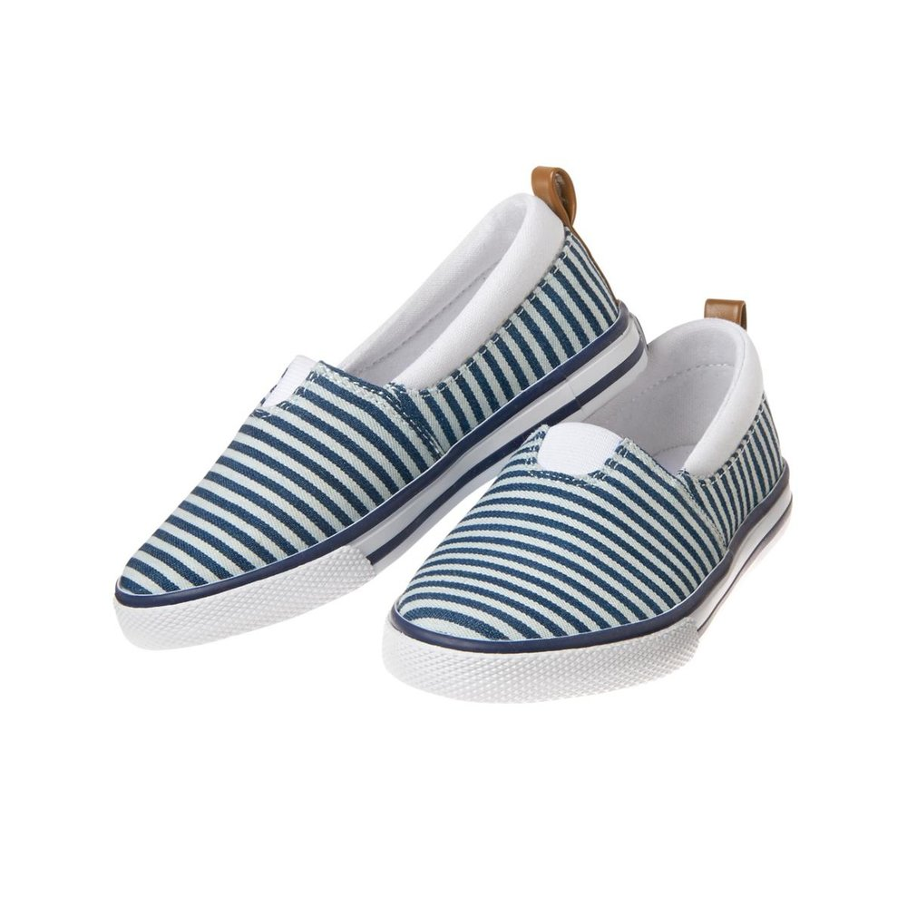 Toddler Boys Stripe Slip-on Sneakers: Sale $5.85, Regular $16.88