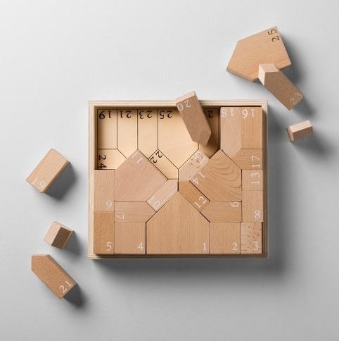 Wooden Toy Block Advent Calendar Set: Sale $12.48, Regular $24.98
