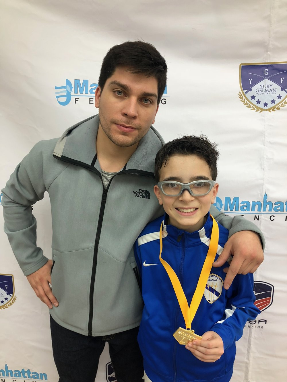 Manhattan Fencing Center Youth  Sebastian Garcia 1st place men's December 2nd 2018