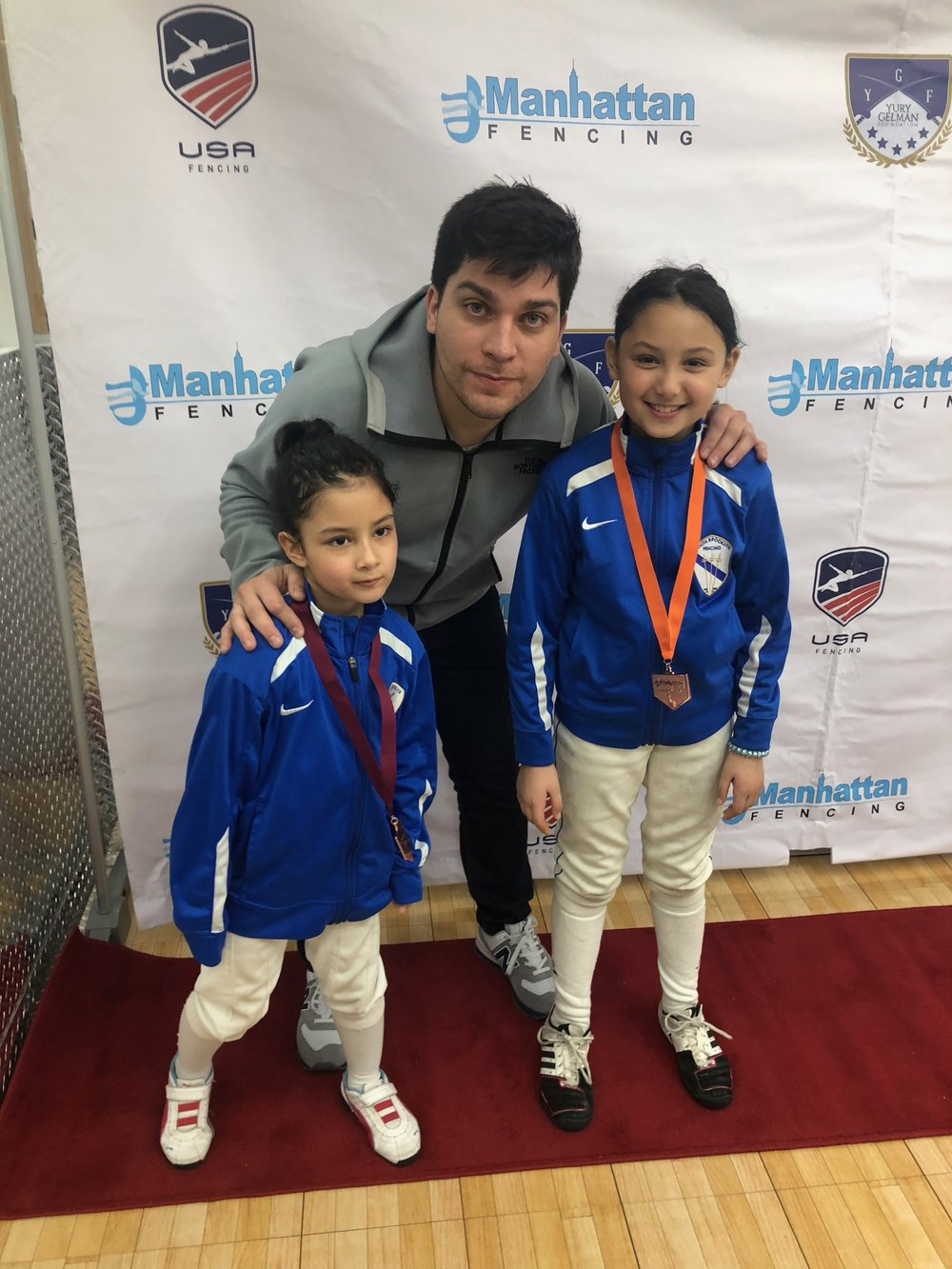 Manhattan Fencing Center Youth  Alex Lambrechts 8th place Y10 women's Emily Cascone 3rd place Y10 women's December 2nd 2018