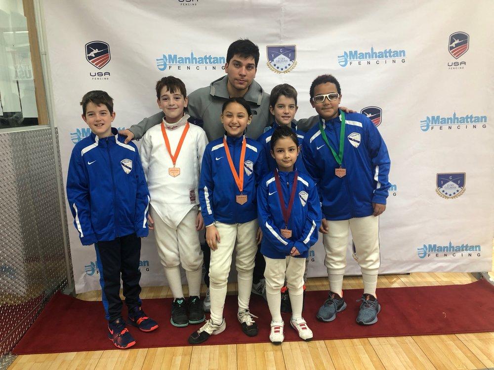Manhattan Fencing Center Youth    TEAM Y10 South Brooklyn Fencing   December 2nd 2018