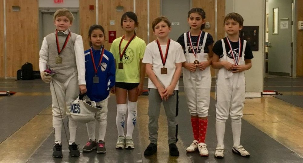 Fencers Club Youth Tournament  Emily Cascone 2nd place Y8 mixed December 9th 2018