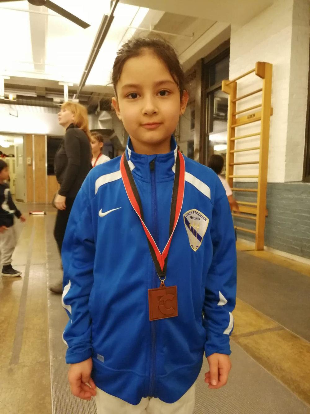 Fencers Club YOUTH Y10 Emily Cascone 3rd   February 24th 2019