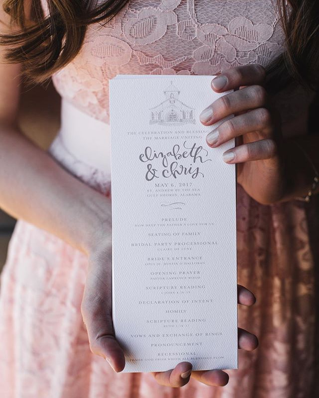 program details 👌🏼💕 #weddinginspiration #weddingdesign #weddingprograms #summerwedding #handlettering #flourishforum #thatsdarling #darlingweekend #pursuitofpretty #creativecorner #birminghamartist #birmingham #alabamaweddings
