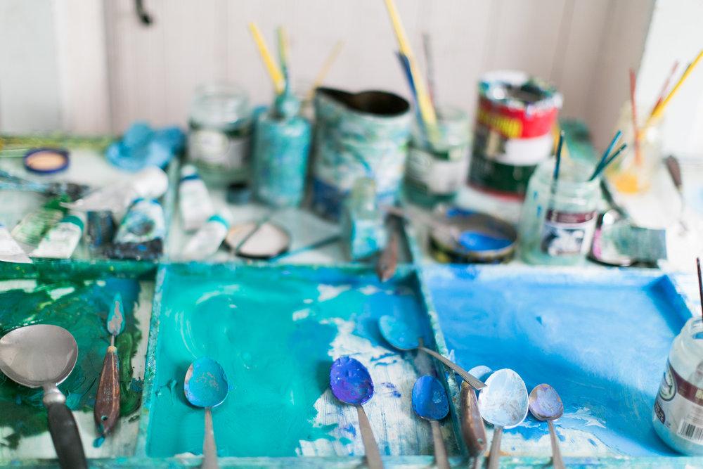 Eric Hopkins - Painter. North Haven, ME.