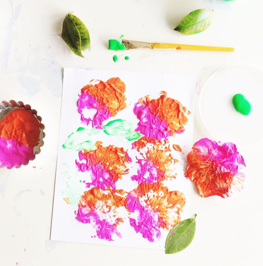 Pretty DIY Flower Stamping
