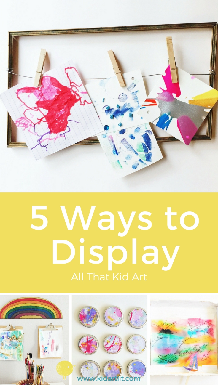 display kid art in your home diy
