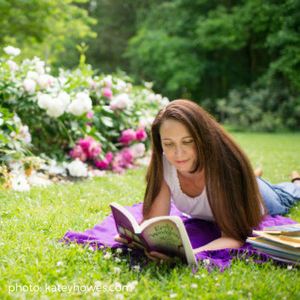 Author Katey Howes Diving Into a Good Book