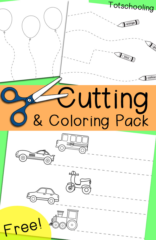 FREE CUTTING & COLORING PACK