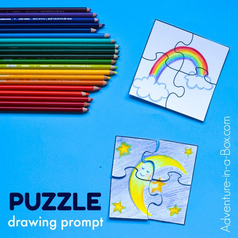 PUZZLE DRAWING PROMPTS FOR KIDS